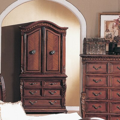 Birksgate Armoire Finish: Distressed Dark Cherry