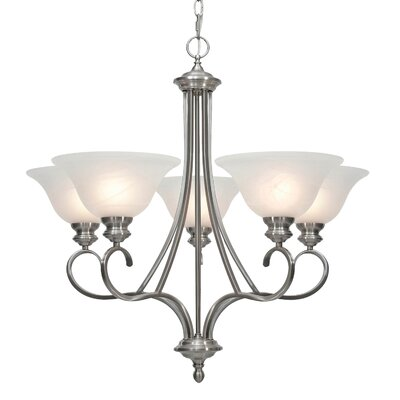 Newson 5-Light Shaded Chandelier Finish: Pewter