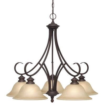 Emory 5-Light Shaded Chandelier Finish: Rubbed Bronze