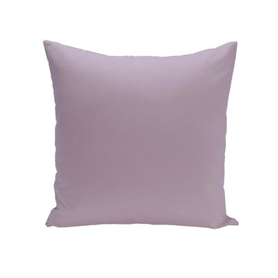 Gatefield Solid Throw Pillow Size: 16 H x 16 W, Color: Lilac Purple