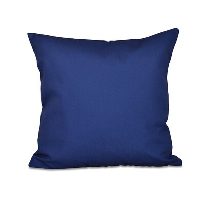 Gatefield Throw Pillow Color: Spring Navy, Size: 26 H x 26 W