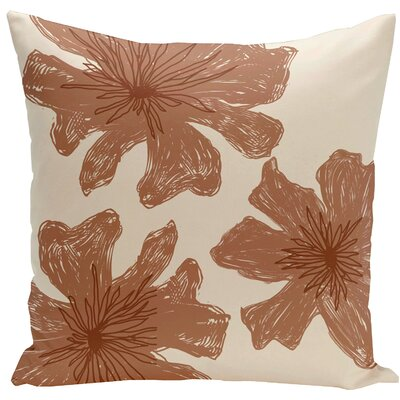 Arkwright Floral Throw Pillow Size: 18 H x 18 W, Color: Hu Poo / Copper