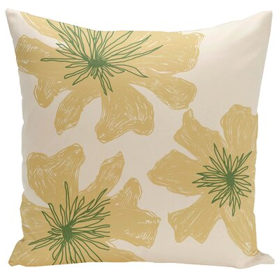 Arkwright Floral Throw Pillow Size: 16 H x 16 W, Color: Bisque / Emperor