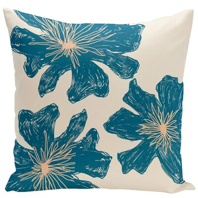 Arkwright Floral Throw Pillow Size: 16 H x 16 W, Color: Bisque / Teal / Peach