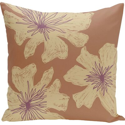 Arkwright Floral Throw Pillow Size: 16 H x 16 W, Color: Hu Poo / Ginger / Plum