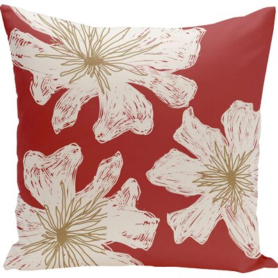Arkwright Floral Throw Pillow Size: 18 H x 18 W, Color: Buddha / Rattan