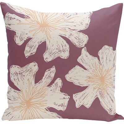Grover Floral Throw Pillow Size: 20 H x 20 W, Color: Plum / Peach