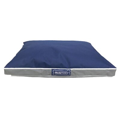 Abbot Bridge In/Outdoor Reversible Mat Size: Large (40 L x 30 W), Color: Navy Blue / Gray