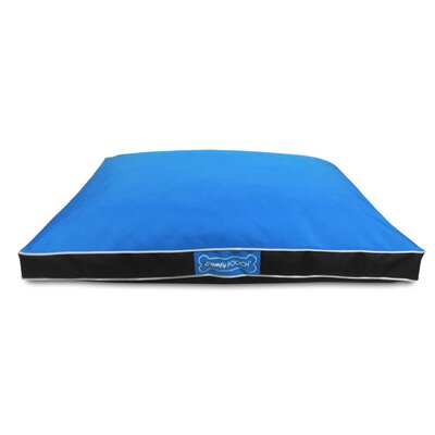 Abbot Bridge In/Outdoor Reversible Mat Size: Small (36 L x 27 W), Color: Light Blue / Black
