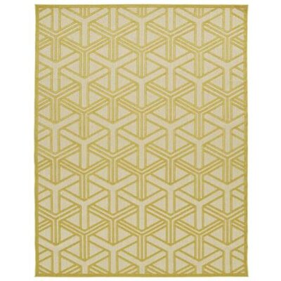Bainsbury Gold Indoor/Outdoor Area Rug Rug Size: Rectangle 5 x 76
