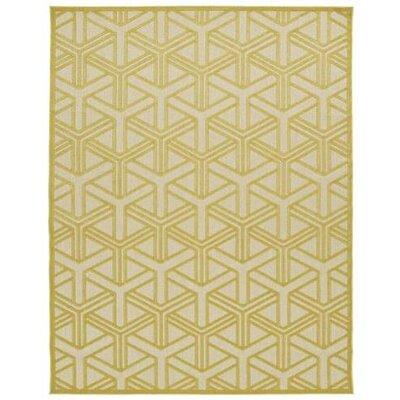 Bainsbury Gold Indoor/Outdoor Area Rug Rug Size: 88 x 12