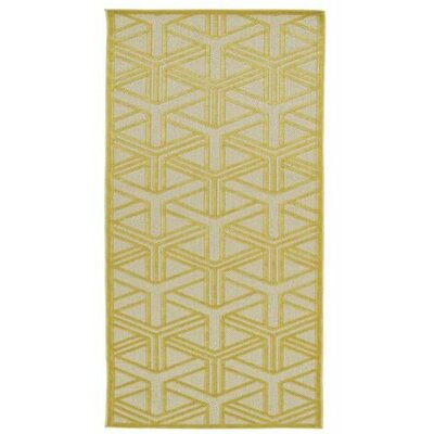 Bainsbury Gold Indoor/Outdoor Area Rug Rug Size: Rectangle 310 x 58