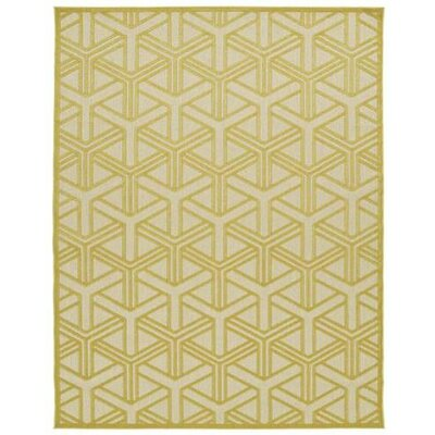 Bainsbury Gold Indoor/Outdoor Area Rug Rug Size: 310 x 58