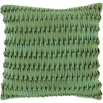 Fieri Wool Throw Pillow Size: 18 H x 18 W x 4 D, Color: Emerald/Kelly, Filler: Down