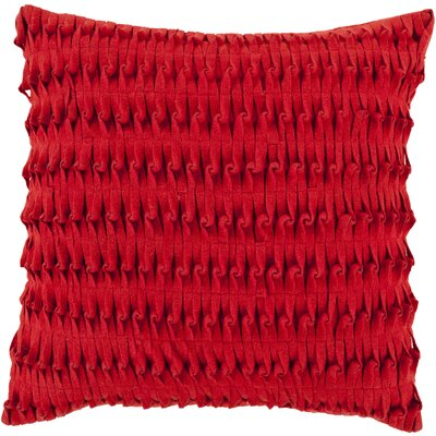 Abbate Throw Pillow Size: 18 H x 18 W x 4 D, Color: Cherry, Filler: Down