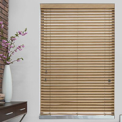 Byrnes 2 Pine Faux Wood Blind Width: 27, Length: 72