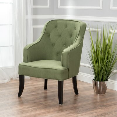 Darryl Fabric Wingback Chair Upholstery: Green