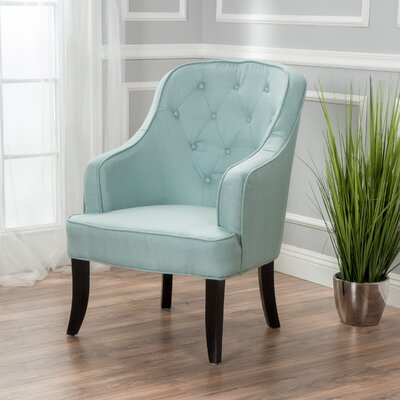 Darryl Fabric Wingback Chair Upholstery: Light Blue