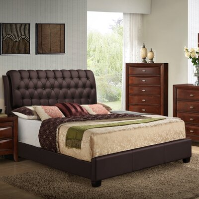 Barnes Upholstered Panel Bed Size: King