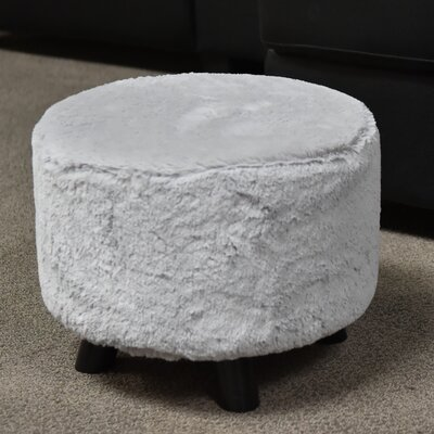 Ergo Fur Ottoman Finish: White