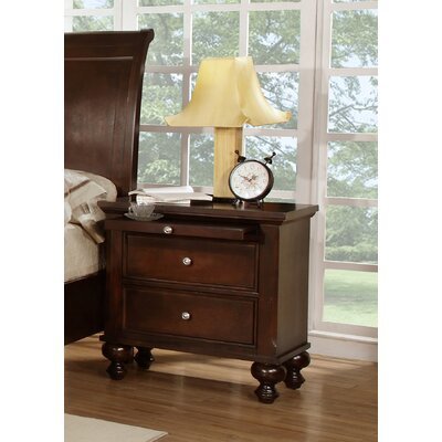 Asher 2 Drawer Nightstand