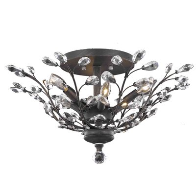 Giovanni 6-Light Flush Mount Crystal Grade: Elegant Cut