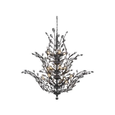 Orchid 18-Light Crystal Chandelier Crystal Grade: Elegant Cut