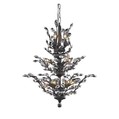Orchid 13-Light Crystal Chandelier Crystal Grade: Spectra Swarovski