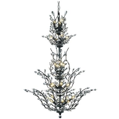 Orchid 25-Light Crystal Chandelier Crystal Grade: Royal Cut