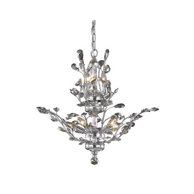 Orchid 8-Light Crystal Chandelier