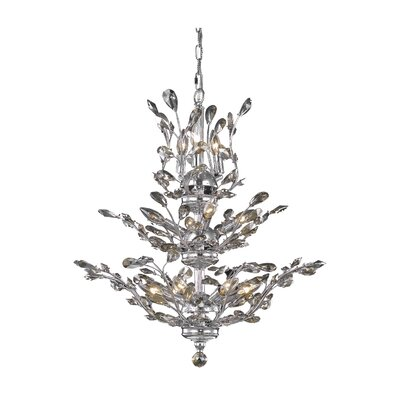 Orchid 13-Light Crystal Chandelier