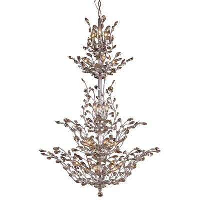 Orchid 25-Light Crystal Chandelier
