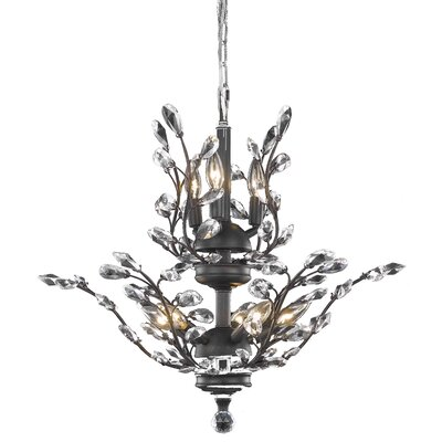 Orchid 8-Light Crystal Chandelier Crystal Grade: Elegant Cut