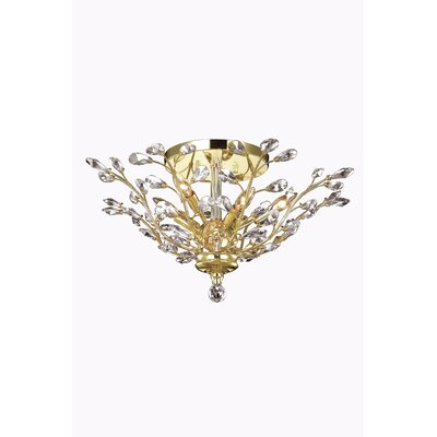 Orchid 6-Light Flush Mount Crystal Grade: Swarovski Element