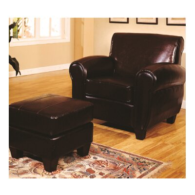 Wildon Home Bycast Leather Chair and Ottoman - Color: Espresso at Sears.com