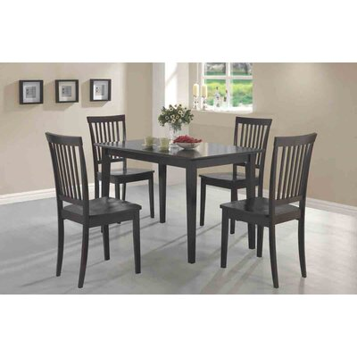 Cheap Wildon Home Eagar 5 Piece Dining Table Set in Cappucino (CST6937)