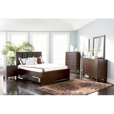 Wildon Home Kingman Panel Bedroom Set in Deep Brown at Sears.com