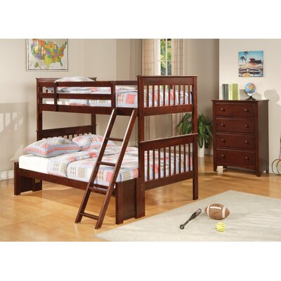 Windham Bunk Bed Size: Twin over Twin, Color: Cappucino