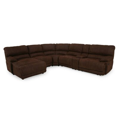 Rankin Reclining Sectional Upholstery: Brown, Orientation: Right Hand Facing