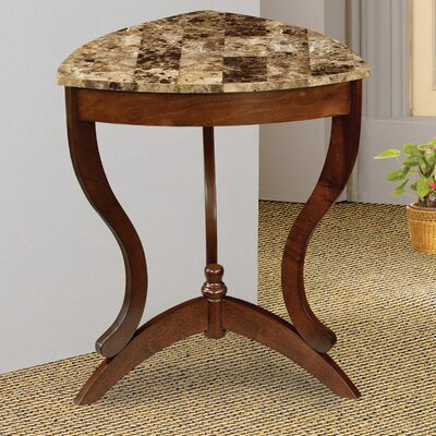 Cheap Wildon Home Ferron Faux Marble Top Side Table in Cherry (CST7294)