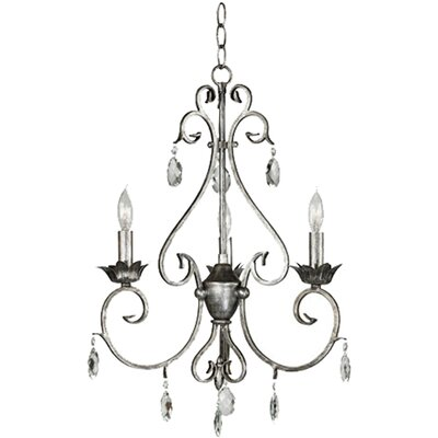 Antoinette 3-Light Candle-Style Chandelier