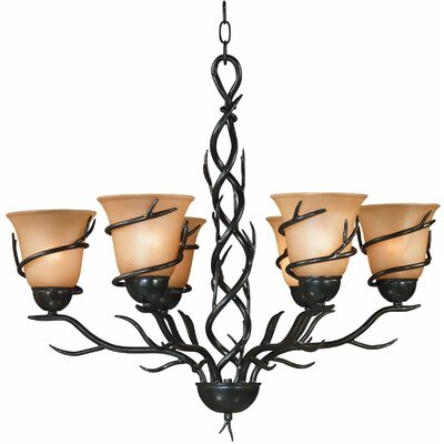 Peony 6-Light Shaded Chandelier