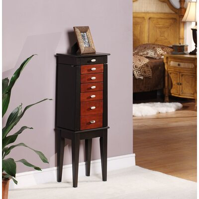 Wildon Home Southport Six Drawer Jewelry Armoire in Brown and Black at Sears.com