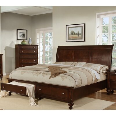 Asher Storage Sleigh Bed Size: Queen