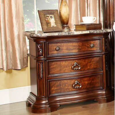 Royal Palace 3 Drawer Nightstand