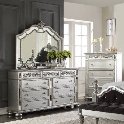 Astoria 9 Drawer Dresser with Mirror