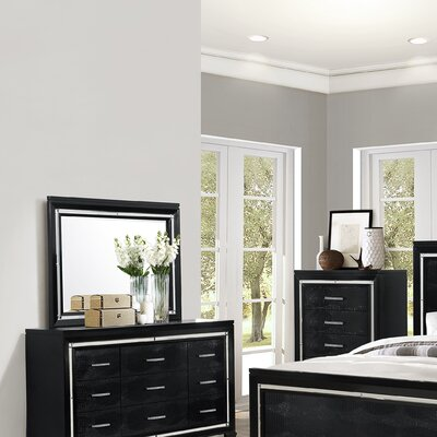 Luca 5 Drawer Dresser Color: Black
