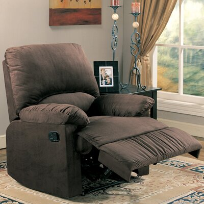 Wellton Chaise Recliner Upholstery: Chocolate