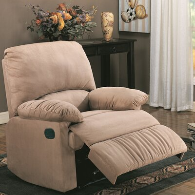 Wellton Chaise Recliner Upholstery: Light Brown