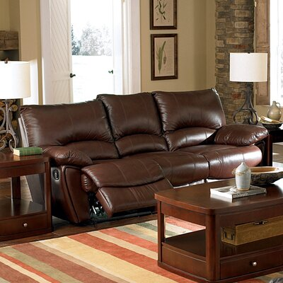 Wildon Home 711392 Red Bluff Bonded Leather Dual Reclining Sofa